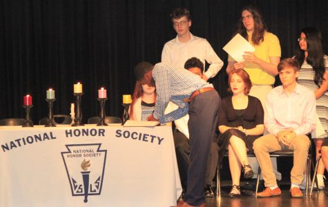 Students inducted into national honor societies