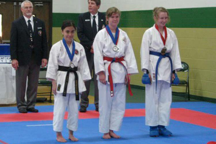 Students recognized for karate talent at recent competition