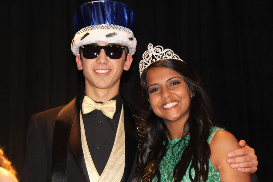 Senior+Diego+Martinez+and+junior+Kanan+Harbuck+are+all+smiles+after+being+crowned+Mr.+and+Miss+Montevallo+at+Montevallo%27s+Day+of+Pageants%2C+Saturday%2C+Feb.+11.